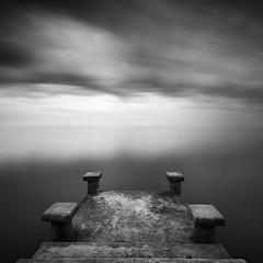 DSC_0126 (pattana92392) Tags: blackwhite bridge seawave sea longexposure sunset coast minimal