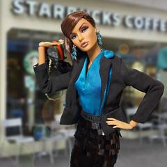 Go to Starbucks! (RockWan FR) Tags: starbucks fashionroyalty raynaahmadi hightoned nuface integritytoys fashiondoll