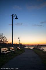 salem sunset (Brian M Hale) Tags: salem ma mass massachusetts willows park outside sun sunset outdoors lightpost post light witch hat benche water atlantic ocean seaside brian hale brianhalephoto