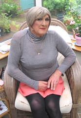 Nancygryneck-001 (fionaxxcd) Tags: cd tg ts ladyboy drag femmeboi mtf m2f transvestite tranny trannie crossdresser crossdressing xdresser xdressing boobs bust turtleneck miniskirt