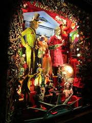 Bergdorf Goodman - New York Historical Society Decor 3804 (Brechtbug) Tags: christmas windows representing new york museums the historical society with folk art figures holidays winter bergdorf goodman department store 5th avenue nyc between 57th 58th streets 2017 holiday monster bull bear mannequins skeletons 11172017 november