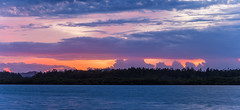 Panorama Dawn Waterscape (Merrillie) Tags: daybreak woywoy color landscape overcasst cloudy water coast dawn beauty panorama weather newsouthwales clouds bay nsw brisbanewater light scenery beautiful scene nature scenic coastal sky waterscape view centralcoast sunrise australia