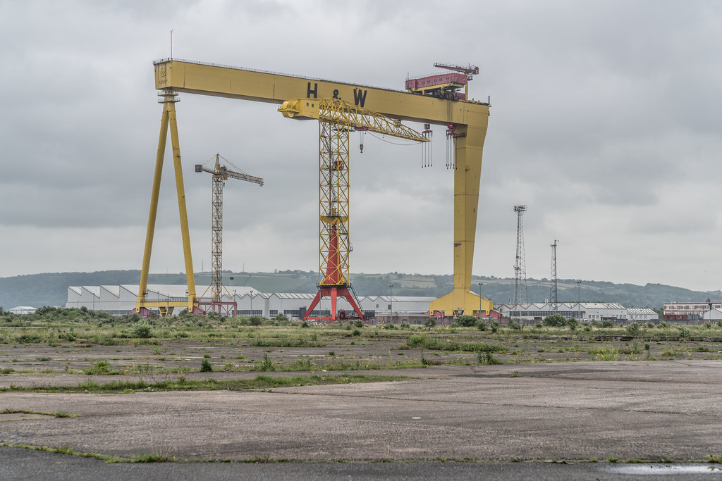 VIEW OF THE FAMOUS CRANES [SAMSON AND GOLIATH IN BELFAST]-134120