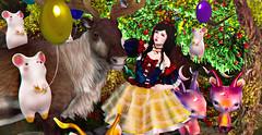 0651 (Luna X Takemitsu) Tags: enchantment snow white snowwhite fantasy enfer sombre yokai gacha rare {imeka} fashiowl poses 00 wzero tkw tukinowaguma kotte