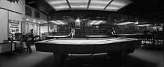 Rack Em by ASHLANDJET - Rack Em Billiards Medford, Oregon Widelux F8 swing lens Ilford XP2 35mm