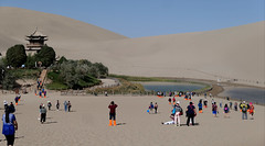Crescent Lake - P1230971 (Toby Garden) Tags: gobi desert dunhuang gansu china more recreation oasis crescent lake yueya spring yueyaquan 月牙泉 shaped located an which is around six kms south city province