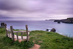 A Place To Reflect. (Andy Bracey -) Tags: aplacetoreflect bench coast coastal landscape seascape sea atlantic cliff clouds stormy longexposure leefilters bigstopper smoothwaters