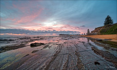 Making the most of a day off (JustAddVignette) Tags: australia clouds collaroy colours firstlight landscapes newsouthwales northernbeaches ocean panorama rocks seascape seawater sky sydney ultrawide water