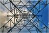 Power Pylon (BobGeilings.nl) Tags: power pylon powerpylon bluesky cloud highvoltage metal powerlines netherlands nieuwvennep symetric lines