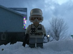 Hoth Rebel On Lookout (splinky9000) Tags: kingston ontario snow toys outdoors lego star wars hoth the empire strikes back rebel trooper