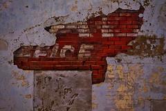 Old Wall (Tim @ Photovisions) Tags: kansas abilene wall sign brick ghostsign xt1 building fuji fujifilm