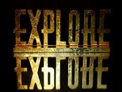 ~Explore....the possibilities are endless!~ (nushuz) Tags: smileonsaturday onthemirror flashy golden onblack exploresign light reflection explorethepossibilitesareendless prettycool happysmileonsaturday saleitematbiglots