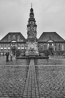 Mannheim Marktplatz b&w