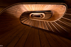 Mill No. 5 (MikeWeinhold) Tags: millno5 lowell staircase geometric mill spiral wood