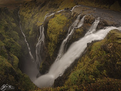 Glymur (►►M J Turner Photography ◄◄) Tags: glymur iceland waterfall chasm canyon foss glymurfoss cascade
