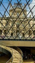 Pyramid of diamonds (BakeJoy) Tags: paris museedulouvre