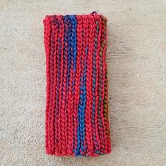 One side of the fingerless crochet glove (crochetbug13) Tags: crochetbug crochet crocheted crocheting fingerlessglove fingerlesscrochetglove textingglove yarnstash crochetslipstitch backlooponly