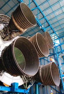Saturn V Rocket Engines -  Saturn V/Apollo Center, Kenedy Space Center, Florida