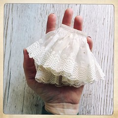 Sewing like a crazy sewing thing ...lovely antique lace from Venice! #venetianlace #asewinglife #dollycouture #moshimoshistudio (little_moshi) Tags: instagram ifttt