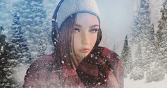 Cold Without You.. (♔. viennaszuta) Tags: exploringsecondlife secondlife avatar snowing coldoutside wintertime