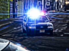 Shine down (Jersey JJ) Tags: police car pd overhead lights fiveo troubleupthemill j2 g11 fractalius