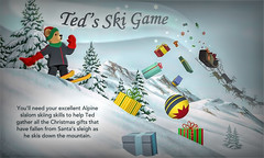 Day 13-Let's Play A Game! (☃☃It's Winter Out There☃☃) Tags: adventcalendar day13 tedsskigame jacquielawson