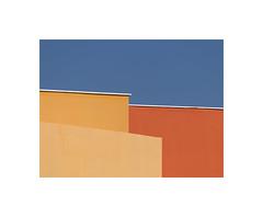 7290093 (ufuk tozelik) Tags: ufuktozelik building walls paint orange blue yellow lines sky abstract minimalist architecture roof urban city