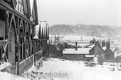 Rowland Hill Almshouses (Maintained by Matthew Bigwood) Tags: briancandy wottonunderedge monochrome 35mm film snow 1963 gloucestershire briancandyphotographicarchive