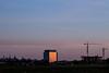 La fin du jour / The end of the day (Jacques Lebleu) Tags: sundown reflection crane building churches udem skyline oratoire lesanctuaire montréal