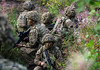 British troops exercise in Estonia as part of the NATO's eFP (Enhanced Forward Presence) (Defence Images) Tags: forest woods wooded landscape terrain elcanspecteros cabrit op operations virtushelmet helmet headwear mtp multiterrainpattern camouflage combats 556mm l85a2 a2 sa80 assaultrifle smallarms firearm gun weapons estonia ex exercise training man male soldiers nonidentifiable personnel army regiments thelightdivision therifles 5thbntherifles 5rifles nato efp enhancedforwardpresence multinational interoperability partnering unit attack action aiming attachment handgrip forward gloves equipment protectiveequipment defence defense uk british military tapa