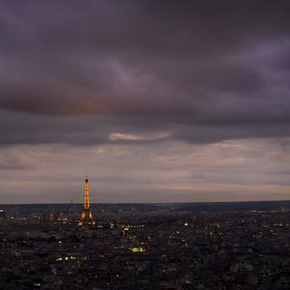 Eiffel Past Sunset