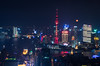 Moon over Shanghai (Matt Shiffler Photography) Tags: shanghai china chinese drone night day street interstate skyline shanghaiskyline shanghaichina pudong pudongskyline roads buildings chinabuildings bund thebund shanghaiist shanghainight shanghaiday