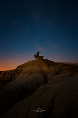Explorer (Laurent BASTIDE Photographies) Tags: explore art fall stars desert orange blue landcape fineart fineartphotography spain mood night sunset sunrise colors longexposure bardenas
