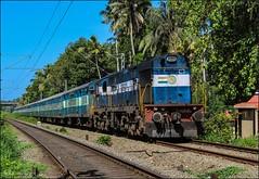56715 Punalur-Kanyakumari passenger (Gautham Karthik) Tags: indianrailways train diesellocomotive wdg3a erodeshed punalur kanyakumari passengertrain trainspotting trivandrum kerala godsowncountry