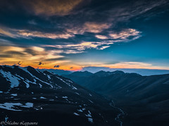 Sunset. West Elbrus (Leona Gorden) Tags: andscape outdoor foothill hike leonagorden travel nature beauty high leisure slopes mountain tranquil photography adventure kchr alania russia climbing tree highlands woods day sky light peak mountainside outside cloud horizontal colorful stones panorama hill grass riverbed hurzuk westelbrus elbrusdistrict field snow sunset