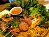 Streetside Platter at Anh and Chi (Ruth and Dave) Tags: anhandchi vietnamese restaurant mainstreet mountpleasant vancouver skewers meat dinner platter dish lettuce salad chicken pork dippingsauce