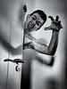 Creep (glukorizon) Tags: 52weeksof2017 arm blackandwhite deur door eng hss hand head hoofd luc monochrome monochroom odc odc1 ourdailychallenge plastic scaryhalloween schaduw selfie shadow sliderssunday spooky vignettering vignetting zelfportret zwartwit