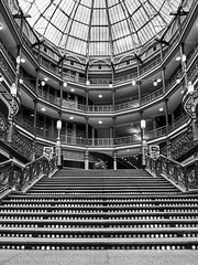 since_1890 (gerhil) Tags: architecture building interior commercial retail hotel stairs dome victorian ornate unique historic monochrome blackwhite autumn november2017 ceiling rotunda atrium room symmetry wall niksilverefexpro2 1001nights 1001nightsmagiccity
