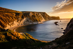 Man O'War Sunrise (ed027) Tags: ifttt 500px landscape sunrise sunset nature beach sun sunlight clouds coast sunshine beautiful colour orange history england sundown ancient bay chalk cliffs colourful natural light cove historic view from above south world jurassic white man owar