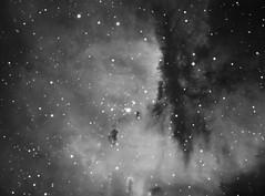 NGC281 - The Pac-Man (CKemu) Tags: space astronomy astrophotography star stars cosmos universe nebula ngc281 pacman cassopeia telescope science blackandwhite bw sky night