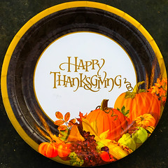 Happy Thanksgiving (Timothy Valentine) Tags: 2017 thanksgiving paperplate home 1117 holiday squaredcircle eastbridgewater massachusetts unitedstates us
