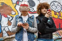 DSC00244.jpg (dmalowany) Tags: graffiti youngwomen portrait sonyrx1