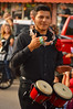A handy tambourine holder (radargeek) Tags: 2016 dayofthedead okc oklahomacity plazadistrict tambourine bongos parade marching