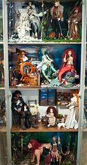 My showcase is almost done! (vanyrei) Tags: showcase diorama doll bjd balljointeddoll diy crafting collection wip resinlove dolllove fantasy oc occharacter pirate sea mermaid seamonster family warrior barbarian viking druid snow woods white arpy lion shaman forest shelf