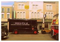 In the traffic...... (kingsway john) Tags: model diorama 176 scale oo gauge removals van stl bus austin seven 7