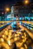 If you find Gold on the Street, just pick it up (Moritz Padberg) Tags: gold bokeh street wet rain nightshot