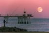 Pont Petroli full moon *in explore* (bienve958) Tags: luna pontpetroli badalona catalunya españa es fullmoon pescador paisaje landscape seascape bridge superluna