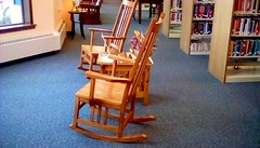 Rocking chairs at library! 365/29