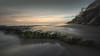 Refuge (David Colombo Photography) Tags: ocean seascape sunset sandiego california landscape clouds sky beach sand rock moss green blue color stairs staircase nikon d800 davidcolombo davidcolombophotography