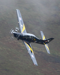 Misty Morning (Treflyn) Tags: raf royal air force short tucano zf239 mach loop wales low flying lfa7 bwlch exit
